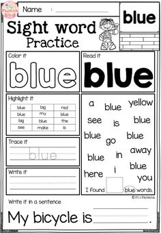 These are FREE samples from my Sight Word Practice Bundle.   These sight word practice pages are perfect for Kindergarten and first graders. These sight word pages help children to learn sight word by reading, tracing, writing, coloring, finding and counting. Preschool | Preschool Worksheets | Kindergarten | Kindergarten Worksheets | First Grade | First Grade Worksheets | Sight Word | Sight Word Free Lessons | Sight Word Practice| Sight Word Worksheets | Sight Word Printables