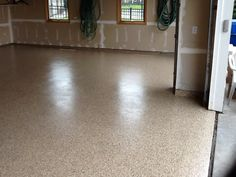Polyurea and polyaspartic floor! Flooring, Makeover, Garage Makeover, Garage Floor Coatings, Tile Floor, Concrete, Bathroom Scale