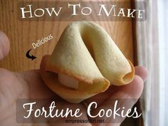 How to make delicious, giant fortune cookies | empressofdirt.net