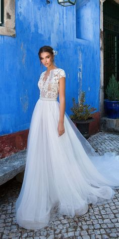 Milla Nova 2018 Wedding Dresses Collection ❤️ milla nova 2018 wedding dresses a line lace with short sleeves melani3 ❤️ See more: http://www.weddingforward.com/milla-nova-2018-wedding-dresses/ #weddingforward #wedding #bride #bridalgown #weddingdresses2018
