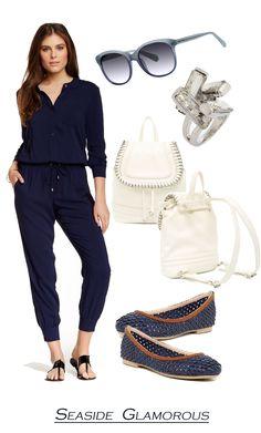 Walk on a seaside outfit idea//