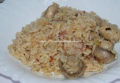 ¿Quieres preparar arroz con champiñones? Esta receta de arroz con champiñones es un plato que seguro os va a gustar a Caldo, Grains, Rice, Food, T Shirt, Chicken With Mushrooms, Rice Salad, Easy Food Recipes, Healthy Recipes