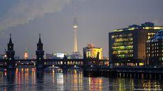 Berlin - The Oberbaum Bridge (Oberbaumbrücke) and TV Tower