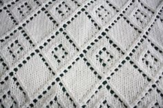 Ravelry: Diamond Lace Panel Blanket pattern by Dorothy P.