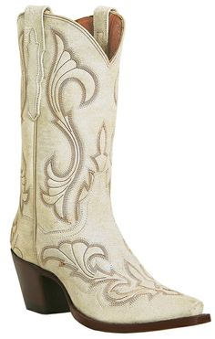 white cowboy boots, because I plan to wear boots with my wedding dress. lol