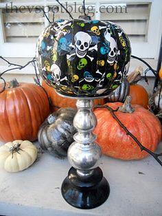 Skull #duck #tape for a #Halloween pumpkin