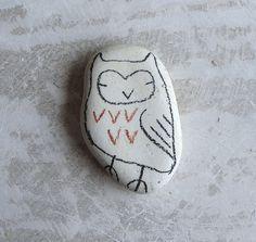 beach pottery owl