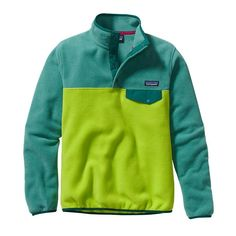 Patagonia Women\'s Lightweight Synchilla\u00AE Snap-T\u00AE Pullover - Peppergrass Green PSS