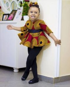 35 Ankara Designs for Kids to Rock this 2020 African Dresses For Kids, Short African Dresses, Latest African Fashion Dresses, Dresses Kids Girl, Kids Outfits Girls, African Print Fashion, Kids Dress Wear, Kids Gown, Afro