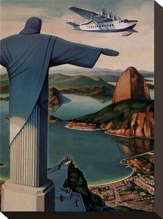 Vintage Rio #travel #poster #brazil