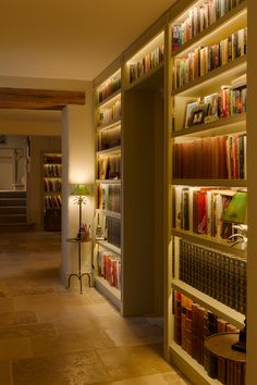 Interior Lighting Tips - Lighting by Sutton House Interiors Ltd. LED strip lights from John Cullen create a wonderful ambian - Led Lighting Home, Strip Lighting, Interior Lighting, Lighting Ideas, Lighting Design, Task Lighting, Home Library Design, Home Design, Interior Design