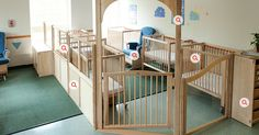 roomscapes | communityplaythings.com - Sleep and Hygiene 2 cribs