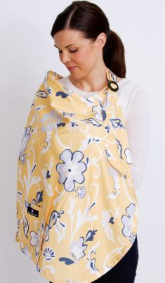 nursing cover. i like the ones with pockets, and i like the ones that go over a shoulder instead of around the neck like an apron.