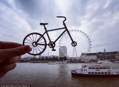 Thanks to an intricately crafted bicycle cut out, the London Eye has been transformed into...