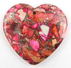 I just listed Orange Heart Jasper & Pyrite Pendant Bead on The CraftStar @TheCraftStar #uniquegifts