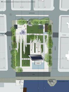 59 Ideas Landscape Architecture Panel Building For 2019 Landscape Plane, Landscape Drawings, Urban Landscape, Landscapes, Landscape Architecture Design, Architecture Plan, Landscape Architects, Thessaloniki, Pavement Design