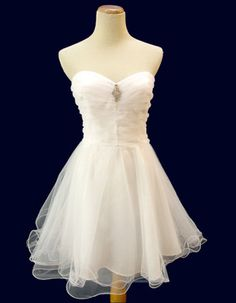 Cute White Short Homecoming Dresses/ Casual Cocktail Dresses for Graduation Ceremony