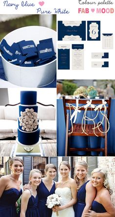 navy blue white wedding theme ideas | fabmood.com Thank you @Heather Creswell Harricharran :*