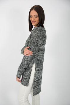 Side Split, Knitting Designs, Hemline, High Low, Jumper, That Look, How Are You Feeling, Jumpsuit, High Neck Dress