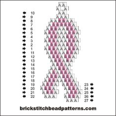Small Pink Ribbon Free Brick Stitch Beaded Earring Pendant Patt… When you embarked on to … Beaded Earrings Patterns, Peyote Patterns, Loom Patterns, Beading Patterns, Art Patterns, Bracelet Patterns, Seed Bead Patterns, Mosaic Patterns, Embroidery Patterns