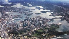 #Sydney #Australia from the air. This #photo was taken from a #Qantas #aeroplane that had just taken off en-route to Brisbane. #NSW #harbour #bridge #OperaHouse #CBD #skyscraper #landscape #view #stunning #amazing #beautiful #city #urban #travel #tourism #tourist #adventure #explore #seetheworld