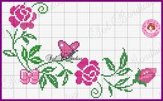 This Pin was discovered by Asi Cross Stitch Heart, Cross Stitch Borders, Cross Stitch Alphabet, Cross Stitch Flowers, Cross Stitch Designs, Cross Stitching, Cross Stitch Patterns, Diy Embroidery, Cross Stitch Embroidery