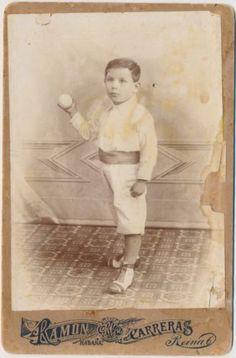 1800's Cuban Baseball Cabinet Child Antique Vintage photograph in Sports Mem, Cards & Fan Shop, Vintage Sports Memorabilia, Photos | eBay