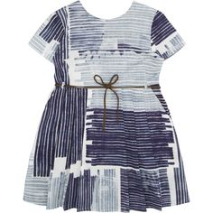 maan indigo washed stripe print