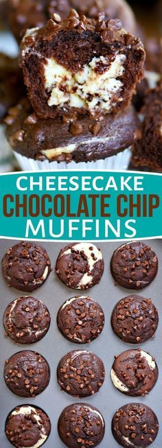 Breakfast has never been this decadent or delicious! Treat your family to Cheesecake Chocolate Chip Muffins. Breakfast has never been this decadent or delicious! Treat your family to Cheesecake Chocolate Chip Muffins. Brownie Desserts, No Bake Desserts, Easy Desserts, Good Dessert Recipes, Easy Delicious Desserts, Baking Desserts, Delicious Dishes, Decadent Chocolate, Chocolate Lovers