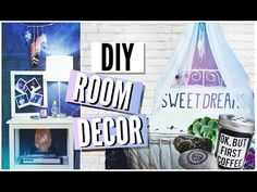 Cute DIY room decor including a very easy canopy and hanging feathers!