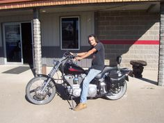 Chadd and his Harley Davidson