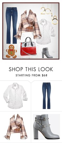 """""""Warm plaids"""" by abedul ❤ liked on Polyvore featuring Current/Elliott, Alexander McQueen, Valentino and Wilton"""