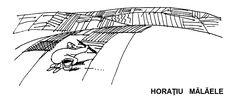 Caricatura de HORATIU MALAELE, publicata in almanahul PERPETUUM COMIC '97 editat de URZICA, revista de satira si umor din Romania