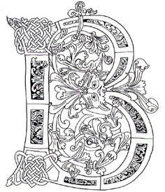 Illuminated Letter B Celtic @Jane Izard Izard Izard Barnette