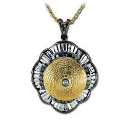 18 Ayar Altın Gümüş Parmak İzi Kolye Morinela, özel tasarım kolye, hediye kolye, parmak izi koleksiyonu