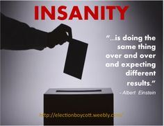 Voting is Insanity