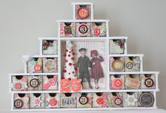 Advent Calendar featuring Pink Paislee created by Trisha Ladouceur