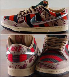 Awesome!  Nightmare on Elm Street - Freddy Krueger Nike Shoes - Horror Sneakers