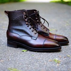 Edward Green, the Galway boots Brown Leather Ankle Boots, Ankle Boots Men, Leather Shoes, Shoe Boots, Men's Boots, Formal Shoes, Casual Shoes, Shoes Style, Dress With Boots