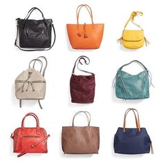 My favorites are the yellow and bright red bags