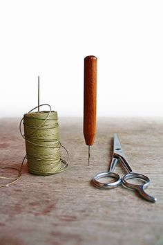bookbinding tools and thread - odelae on Etsy