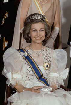 Queen Sofia of Spain during an official visit to the Netherlands.