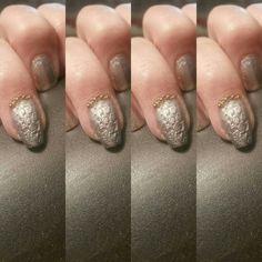 Alligator bag inspired sculpted self nails