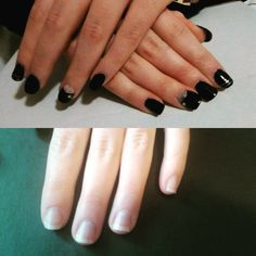 Before & After Gel nail polish & Art #beforeandafter #gelpolish #gel #nails