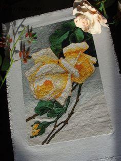 Схема для вышивки крестом Белая роза. Отшив.