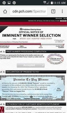 PCH OFFICIAL NOTICE IMMINENT WINNER SELECTION PROMISE TO PAY! I Rosa Rojas Claim my Ownership to Lotto PowerPrize my Winning Numbers. Thank you PCH.com
