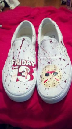 Friday the 13th Jason Voorhees shoes by TheKickShop on Etsy, $45.00