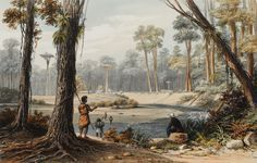 Augustus Earle - Native Village and Cowdie Forest Polynesian People, Maori Art, Underworld, Painters, New Zealand, Nativity, Blogging, Channel, Explore
