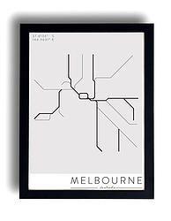 Melbourne's Rhythm Trainline Poster