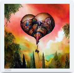 """Dangling Conversation"" Art Print by Esao Andrews  (Onsale Info)"